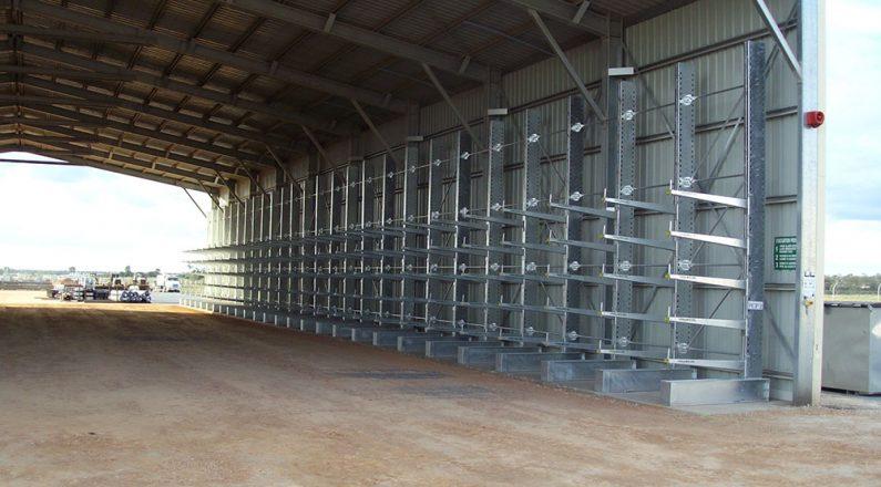 QGC Pallett Racking shed