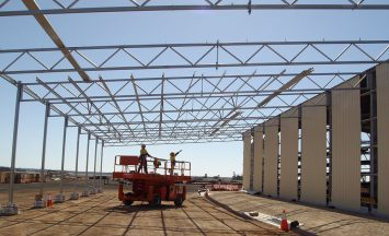 QGC Windibri steel trusses