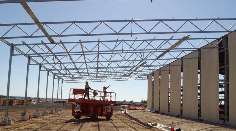 QGC Windibri steel trusses